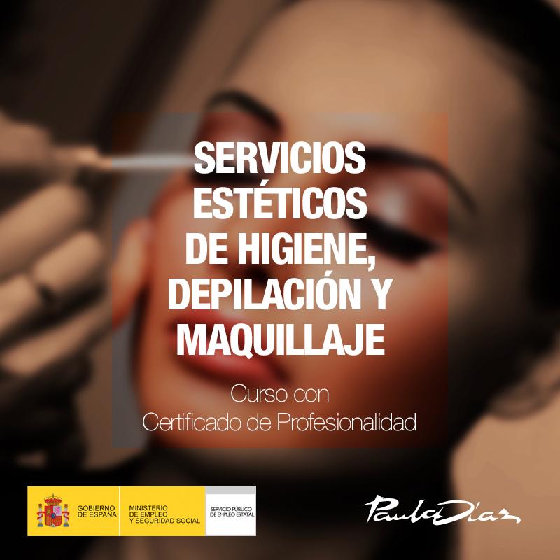 Curso servicios estéticos de higiene, depilación y maquillaje Paula Díaz